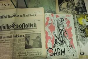 Tove Jansson gjorde omslagsillustationerna till den politiska satirtidskriften garm