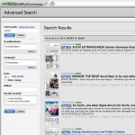 Sökning i innehållet är möjligt med hjälp av Advanced Search.