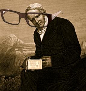 [Humboldt med glasögon.]