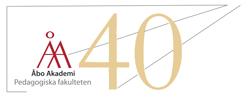Logotypen för pedagogiska fakultetens 40-årsjubileum.