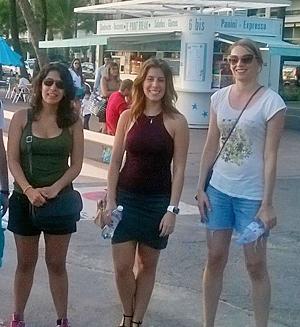 ÅA-forskare på strandboulevarden i Nice.