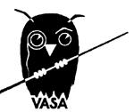 Uggla med pekpinne och texten Vasa.