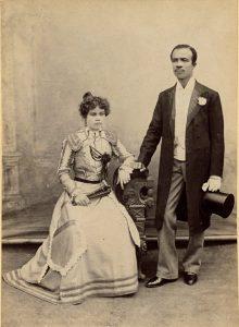 Euroafrikanskt par fotograferat i slutet av 1800-talet av Albert Lutterodt