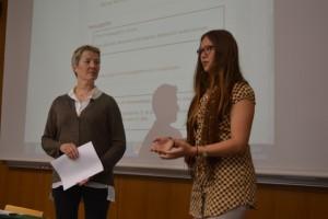 Synen på omvända klassrummet ur lärar- och studentperspektiv: Margrét Halldórsdóttir och Jasmine Nedergård.