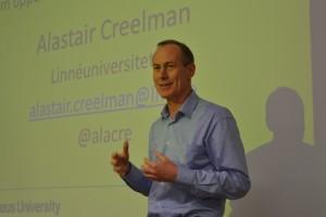 Alastair Creelman från universitetsbiblioteket i Kalmar är engagerad i e-lärande.