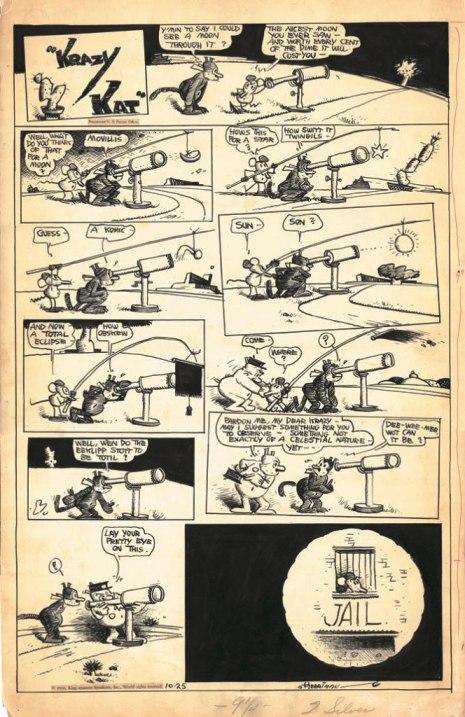 Krazy Kat, söndagssida den 25 oktober 1936.