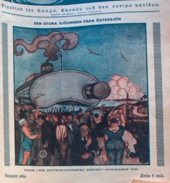 Blinkfyren - flygblad för Hangö, Ekenäs och den övriga världen, augustinumret 1924.