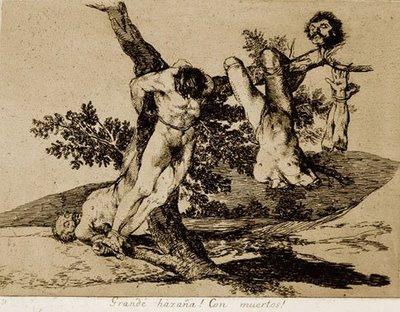 """Francisco de Goya, """"Stora dåd! Mot de döda!"""""""