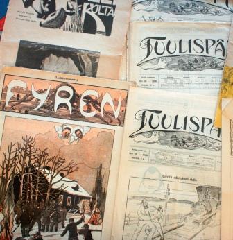 Några nummer av Fyren och Tuulispää från omkring 1905
