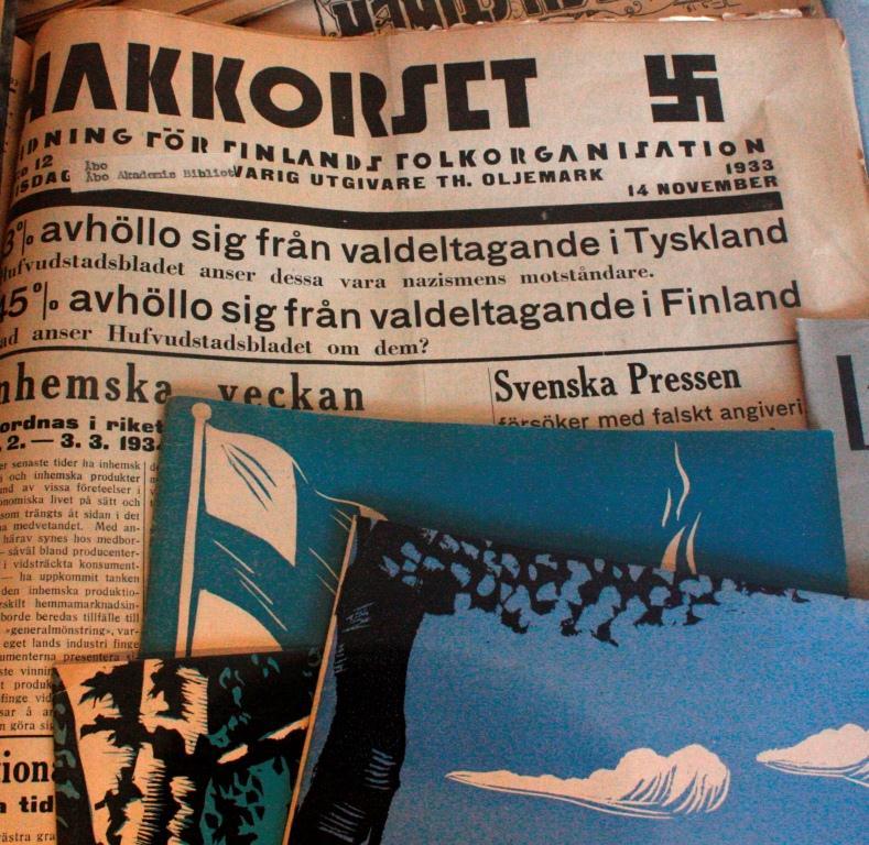 Den finlandssvenska nationalsocialistiska tidningen Hakkorset (1933-34), 13 november 1933.