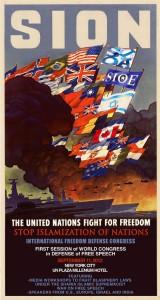 SIONs (Stop Isamization Of Nations) affisch för dagens kongress